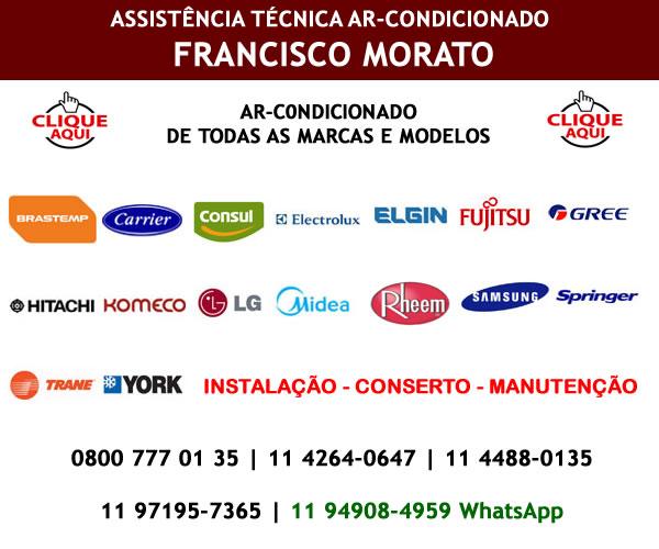 Assistência técnica ar-condicionado Francisco Morato