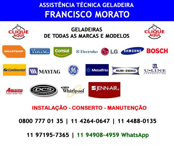 Assistência técnica geladeira Francisco Morato